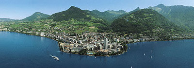 Panoramic View of Montreux on Lake Geneva