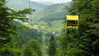 the only Cable Car in norh-western Switzerland - from Reigoldswil to Wasserfallen, near Basel