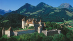Gruyere - a charming village with a medieval castle and cheese and chocolate factories