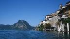 Gandria, a picturesque village on the shores of Lake Lugano and at the foot of Monte Brè, Ticino - Switzerland