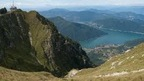 Monte Generoso offering the best views of Lake Lugano and the Ticino region, Switzerland