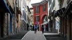 The Via Catterale shopping street in Lugano, Ticino - Switzerland