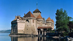The Chillon Castle - one of the most popular sights in Switzerland