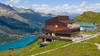 Corvatsch near St. Moritz, Switzerland, with the highest mountain station in the Eastern Alps