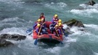 river rafting on the Inn River - the river of the Engadine Valley