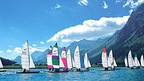 Sailing regatta on Lake St. Moritz