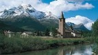 Sils Maria and Sils Baselgia - cozy villages on Lake Sils near St. Moritz, Switzerland