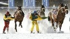 White Turf - horse races on snow on the frozen lake of St. Moritz, Switzerland