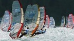 Engadin Windsurfing Marathon on Lake Silvaplana near St. Moritz, Switzerland