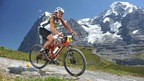The Inferno Triathlon - athletes are biking through Wengen and the Jungfrau region