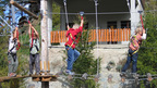 Fun for young and old at the Forest Fun Rope Park in Zermatt