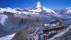 Gornergrat, Zermatt with Kulmhotel and view of the Matterhorn