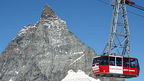 Cable Car to the Matterhorn Glacier Paradise above Zermatt, Switzerland