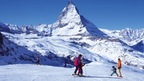 Summer Skiing on the Glacier above Zermatt