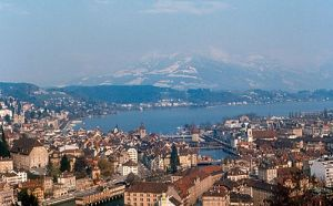 Lucerne and Lake Lucerne located in the heart of Switzerland