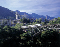 The scenic Centovalli Train near Locarno, Switzerland