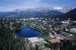 Crans-Montana - popular mountain resort in the Valais, Switzerland