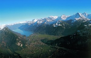 Interlaken in the Bernese Oberland, between two lakes and surrounded by mountains