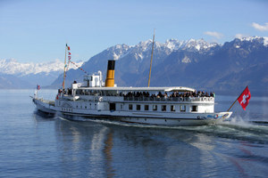 Paddle Steamer on Lake Geneva, Switzerland
