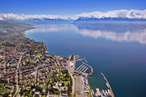 Lausanne and Lake Geneva, Switzerland