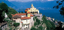 Madonna del Sasso - the landmark of Locarno, Switzerland