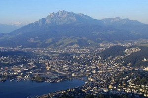 Lucerne with Lake Lucerne and Mt. Pilatus
