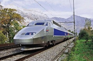 The TGV Highspeed Train from Paris, France to Geneva, Lausanne, Bern and Neuchatel in Switzerland