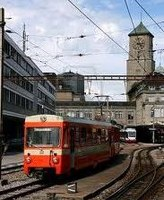 St. Gallen Railway Station and regional train