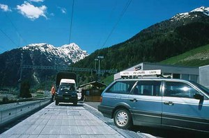 Car Transporter Train Vereina & Albula to get to St. Moritz and the Engadin Valley