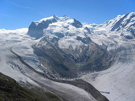 Dufourspitze, the highest peak (4634 m / 1502 ft) of the Swiss Alps