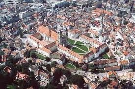 St. Gallen, the capital of Eastern Switzerland, with the Cathedral and the Abbe Library, a UNESCO World Heritage Site
