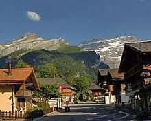 Les Diablerets - authentic village and mountain resort of the Vaud Alps, Switzerland