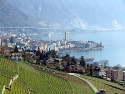 Montreux, Switzerland - gateway for excursions on Lake Geneva and scenic train rides in the mountains of the Swiss Alps