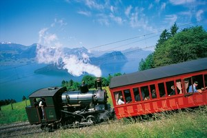 Mt. Rigi features the oldest Swiss mountains railways