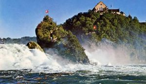 The Rhine Falls - Europe's largest waterfall situated in Northern Switzerland