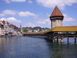 Lucerne / Luzern, Switzerland with its famous Chapelbridge