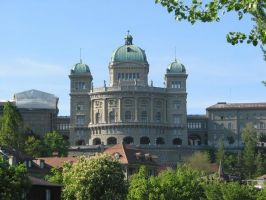 The Federal Palace of the Swiss Parlament in Bern, Switzerland's Capital, a UNESCO World Heritage Site