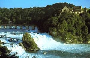 Rhine Falls near Schaffhausen, Switzerland, the largest waterfall in Europe