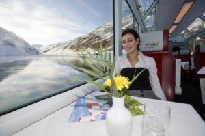 traveling by train - an unforgettabe journey on the Glacier Express