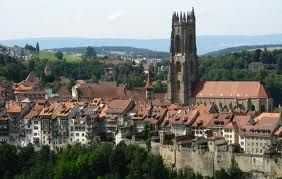the medieval city of Freiburg - Fribourg, Switzerland
