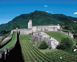 The capital city of the Ticino: Bellinzona