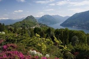 Botanical Parc San Grato above Lugano in the Ticino, Switzerland
