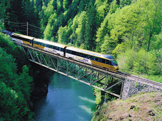 Golden Pass scenic train; Lake Geneva Region - Bernese Oberland - Central Switzerland
