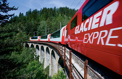 Glacier Express - scenic panorama train through the Swiss Alps