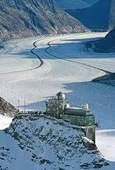 Jungfraujoch - Top of Europe; the Sphinx and the Aletsch Glacier, a UNESCO World Heritage Site