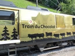 Chocolate Train - the scenic train from Montreux through vineyards includes the visit of cheese and chocolate factories