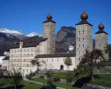 The Valais - Stockalper Palace in Brig, a historic town and important junction at the foot of the Simplon Pass