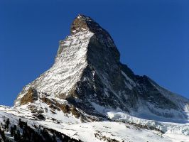 The Valais - Matterhorn,  the world-famous Swiss pyramid