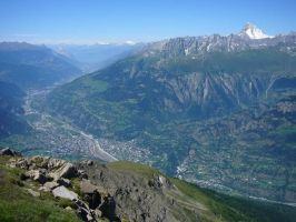 The Valais - Rhone Valley with diverse landscapes