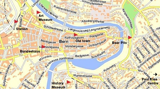 SwissVacations Bern Destination Information and Travel – Swiss Travel System Map